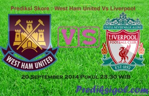Prediksi Skor west ham united vs Liverpool