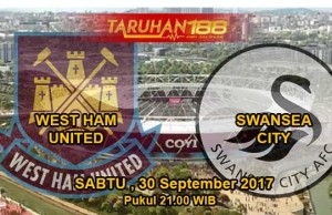 Prediksi Bola West Ham United vs Swansea 30 September 2017